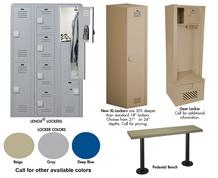LENOX® PLASTIC LOCKER OPTIONS